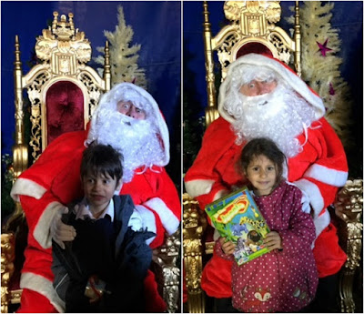 Children with Father Christmas at the circus