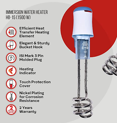Havells Immersion Water Heater Safe and Easy to Use & for Perfect Hot Water