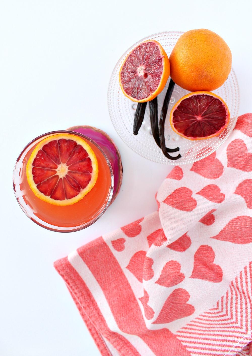 Blood Orange and Vanilla Cocktail