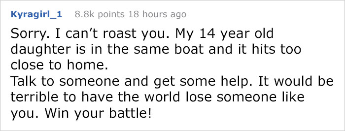 Depressed Teenager Asked r/RoastMe To Roast His Photograph So He Could Find A Reason To End It All And The Internet Responded Like This