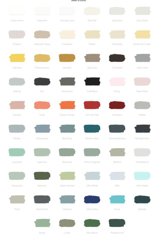 fusion color chart