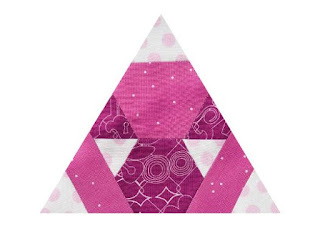 triangle quilt block made of hexagons and triangles