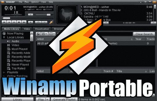 تحميل مشغل الصوتيات الاول برنامج Winamp Portable نسخة محمولة مفعلة