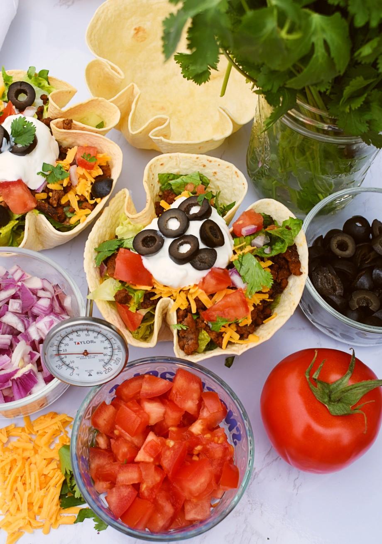 Healthy Taco Salad Bowls