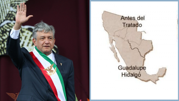 Lopez Obrador promete recuperar el territorio que Mexico cedio a EU si llegar a ser presidente en 2018