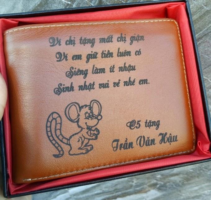 ví vàng chỉ nhỏ tặng em trai