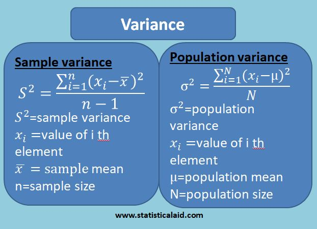 variance and standard deviation in statistic