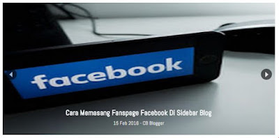 Featured Post Slider di Halaman Depan Blogger