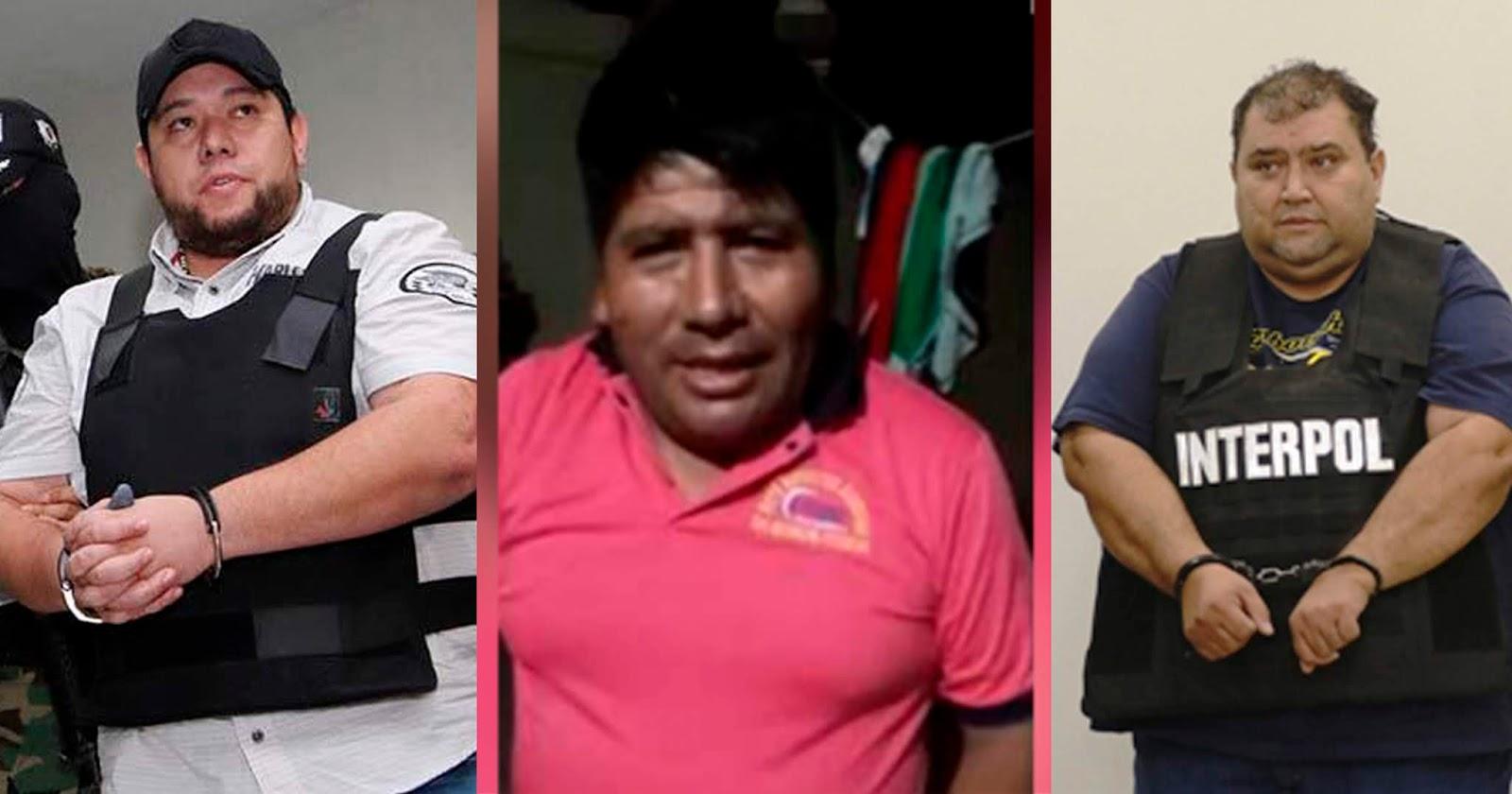 Montenegro (sentenciado), Yujra (prófugo) y Lima Lobo (detenido), son algunos nombres de sospechosos por narcotráfico, revelados en los últimos tres años de la era Evo Morales / WEB / RRSS/ MONTAJE