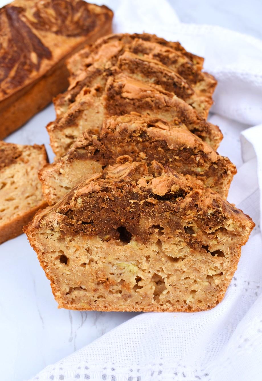 Swirled Chocolate Peanut Butter Banana Bread
