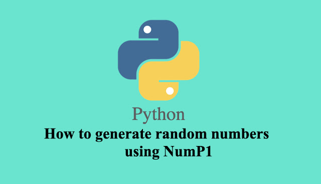 How to generate random numbers using NumP1