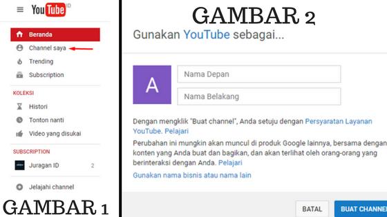 Cara Membuat Channel Youtube pemula