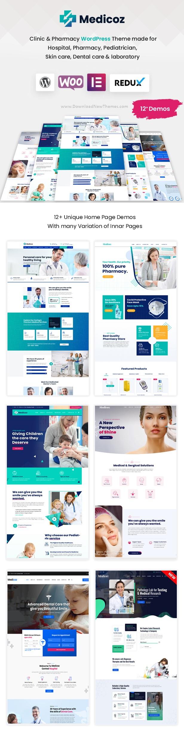 Clinic & Pharmacy Premium WordPress Theme