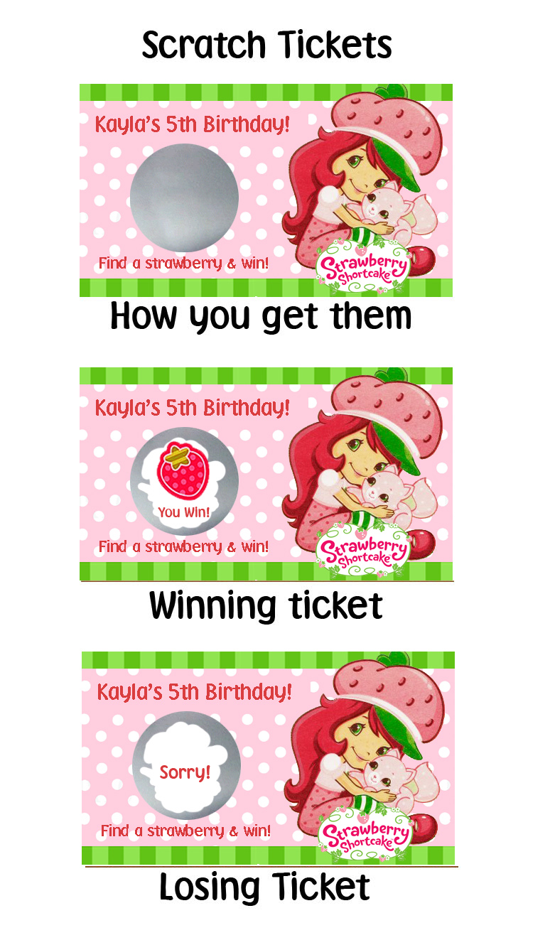 Parties Quot R Quot Personal Strawberry Shortcake Personalized
