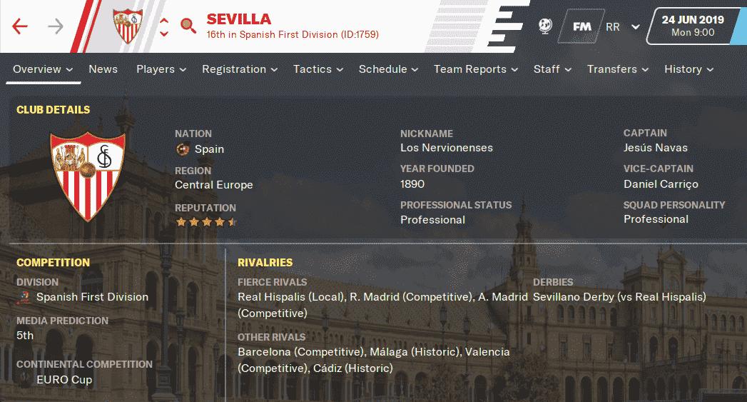 FM20 Team Guide & Tactic - Sevilla