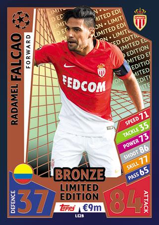 FALCAO Limited Edition BRONZE LE2B Match Attax Champions League 17//18