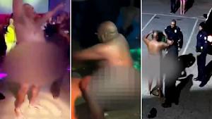 Policial bêbado é suspenso após ser filmado dançando nu em boate