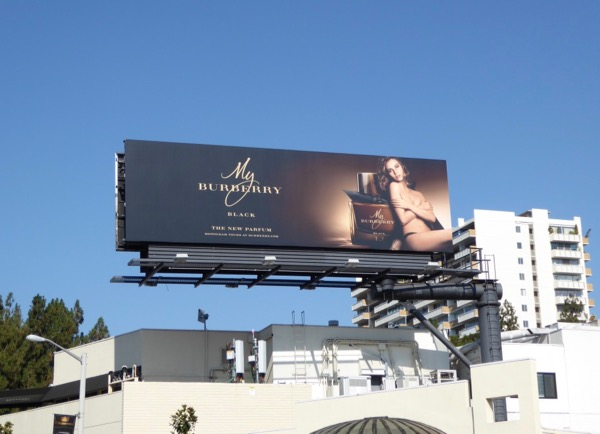 Lily James My Burberry Black billboard