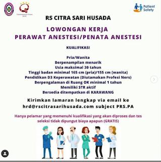 Loker ATLM Di Rumah Sakit Citra Sari Husada Karawang