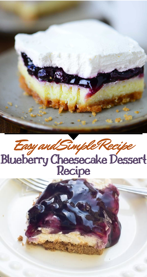 Blueberry Cheesecake Dessert Recipe #desserts #cakerecipe #chocolate #fingerfood #easy