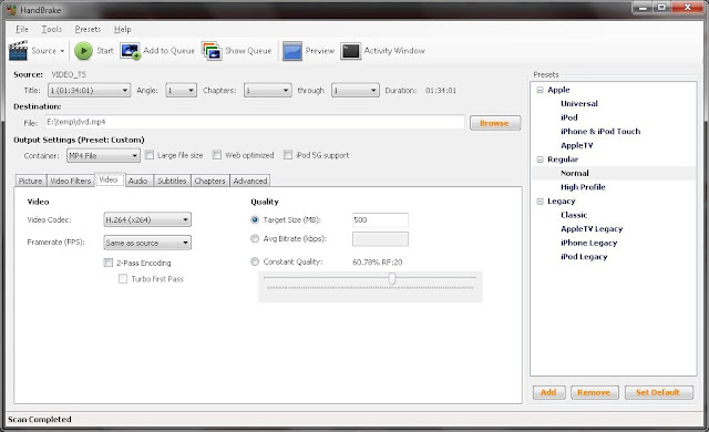 handbrake best free video transcoder