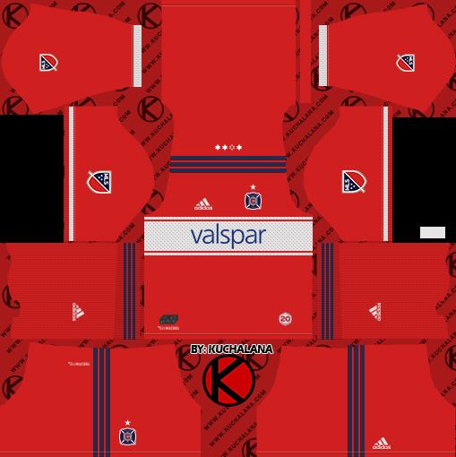 size 40 21549 faae2 Chicago Fire Kits 2018 - Dream League Soccer - Kuchalana