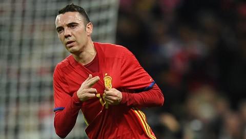 Iago Aspas đang có những ngày tháng tươi đẹp nhất trong màu áo tuyển Tây Ban Nha