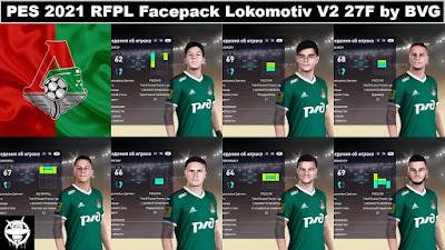 PES 2021 RFPL Facepack Lokomotiv Moskva V2 27F by BVG