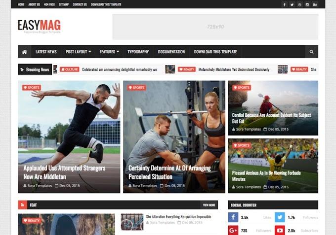 Easy Mag Magazine Blogger Template