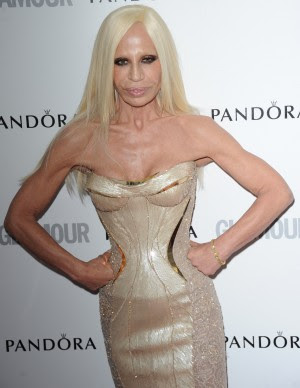 Donatella Versace Would Like to Dress the Queen of England in Black Leather