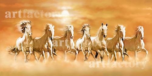 Seven Running Horse Painting In Vaastu ~ Vastu Running Seven Horse Paintings