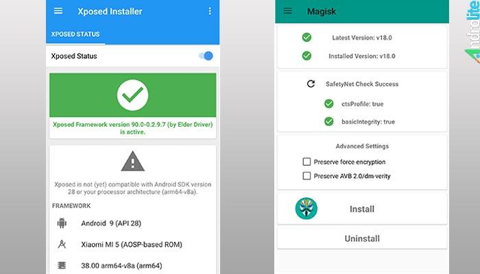 Download dan Cara Install Xposed Framework Android Pie 9 0