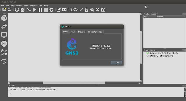 GNS3 akhirnya bisa dijalankan tanpa hak akses root