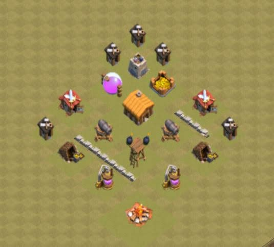Base COC TH2 War 1