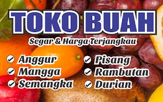 Banner Toko Buah Sederhana