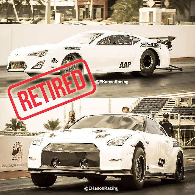EKanooRacing retiring the Pro Toyota GT-86 & Drag T1 Nissan GT-R!