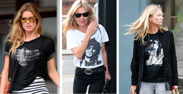 Looks Kate Moss camisetas