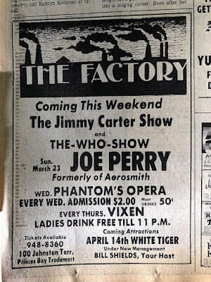 The Joe Perry Project at The factory March 23, 1980... I was at this show!!