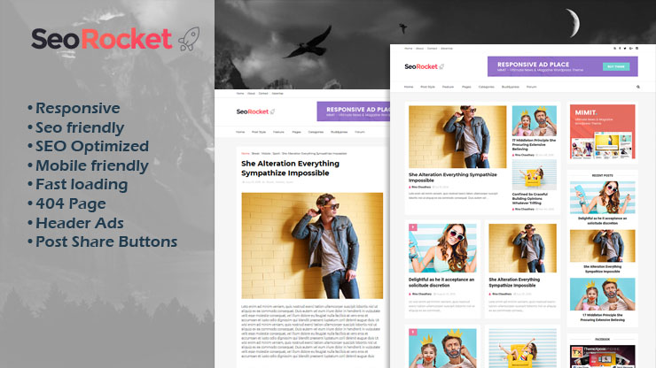SeoRocket Premium Blogger Template