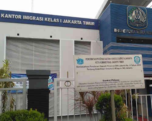 Alamat Telepon Kantor Imigrasi Kelas I - Jakarta Timur