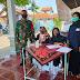Babinsa Pedan Pantau Kegiatan Donor Darah Di Wilayah Binaan