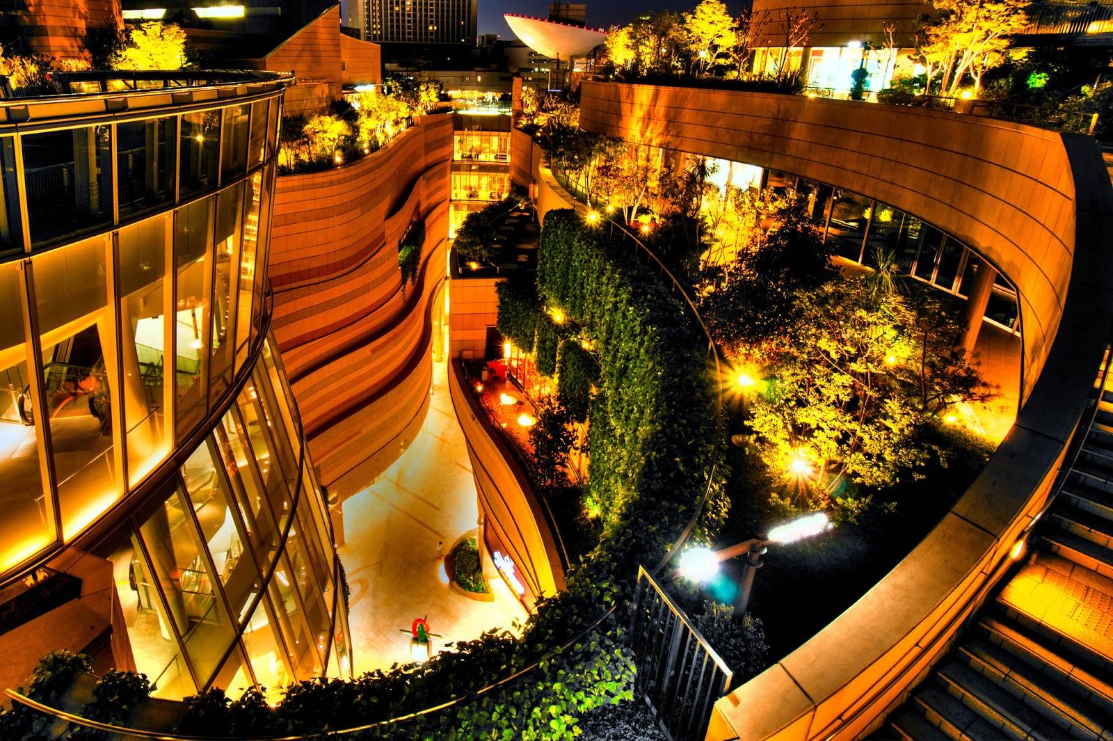 Namba Parks Landscape Gardens In Osaca Japan Most