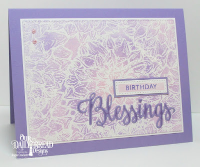 ODBD Dahlia, ODBD Many Blessings Stamp/Die Duos, ODBD Custom Pierced Rectangles Dies, Card Designer Angie Crockett