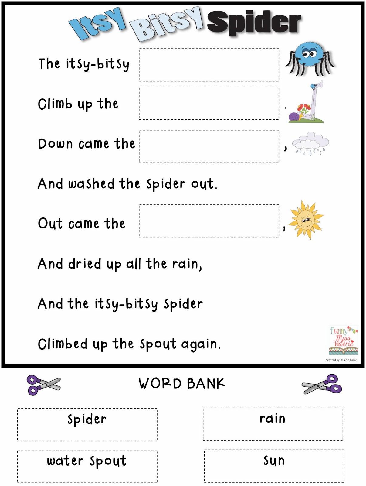 Funny Miss Valerie Itsy Bitsy Spider