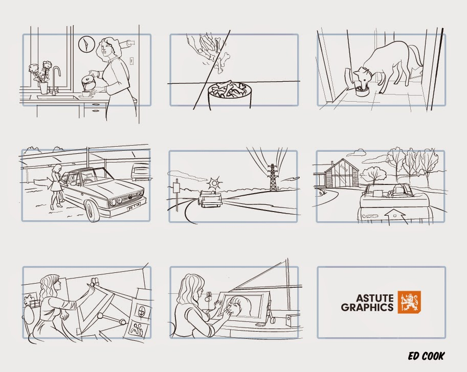 Ed Cook Storyboards and Illustration Storyboards I did for Astute - commercial storyboards