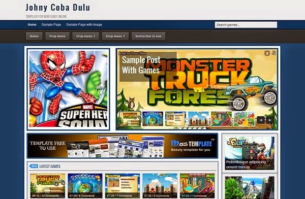 Download Flash Game Template - Fresh Blogger Templates