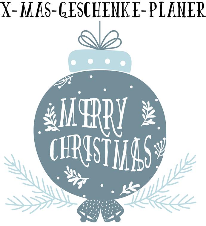Merry Christmas Geschenke Planer