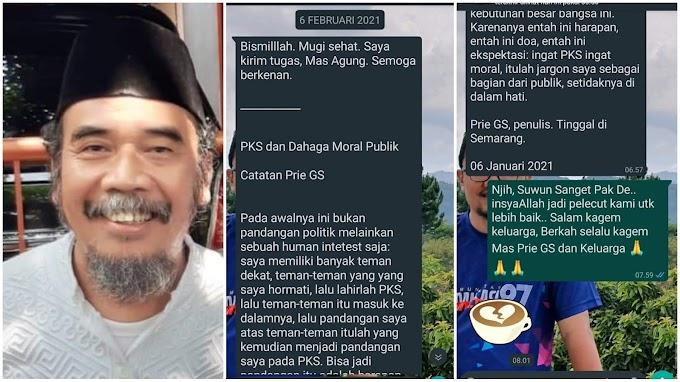 Nasihat Terakhir Prie GS Untuk PKS dan Kader-Kadernya