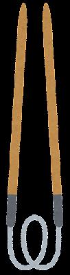 編み針のイラスト(輪針)