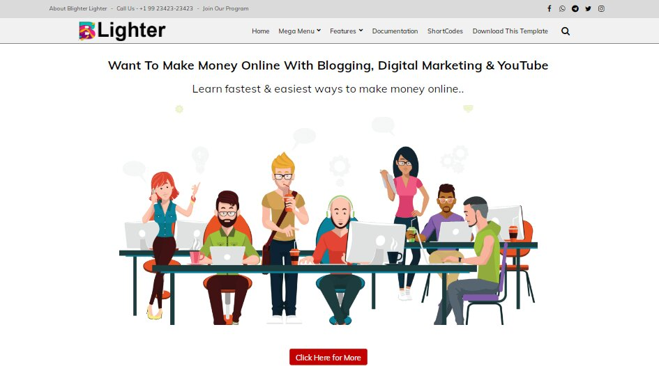 Blighter is the one of expert blogger template in blogspot platform with First Pro level gadgets have been made quick loading and responsive.